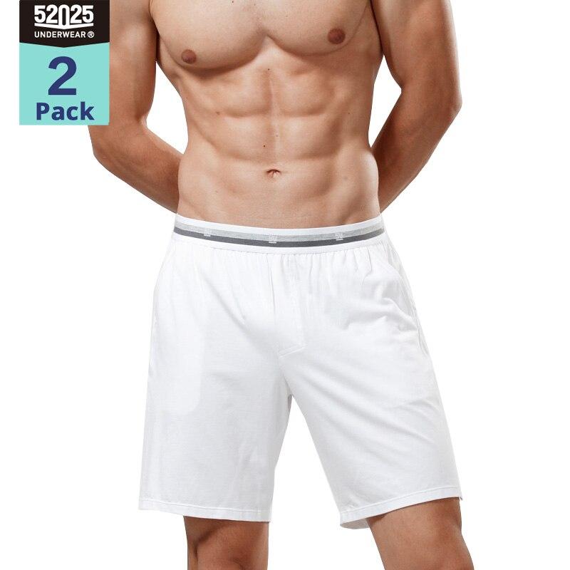 52025 Pajama Pants 2-Pack Sleep Shorts Home Trousers Cotton Modal Breathable Soft Pants Comfortable Sleepwear Pyjamas Pajamas