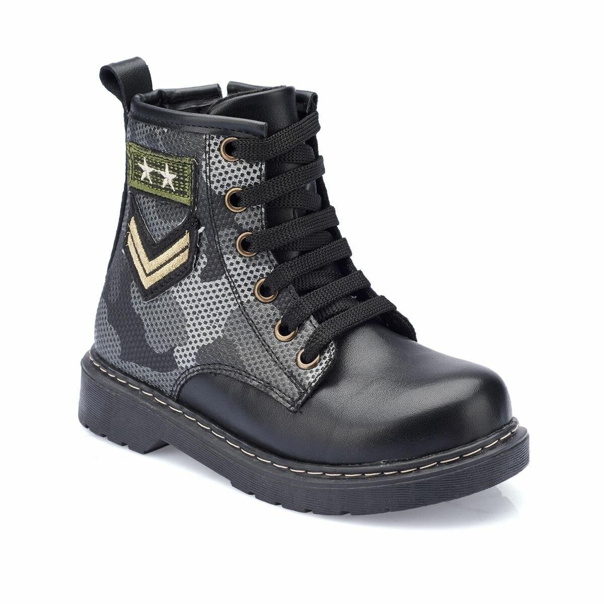 FLO 82.510550.P Black Male Child Boots Polaris