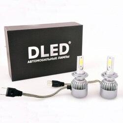 Lámpara de coche LED 2 uds H3 H4 H7 H8 H11 9005 de 9006 murió piratas C6