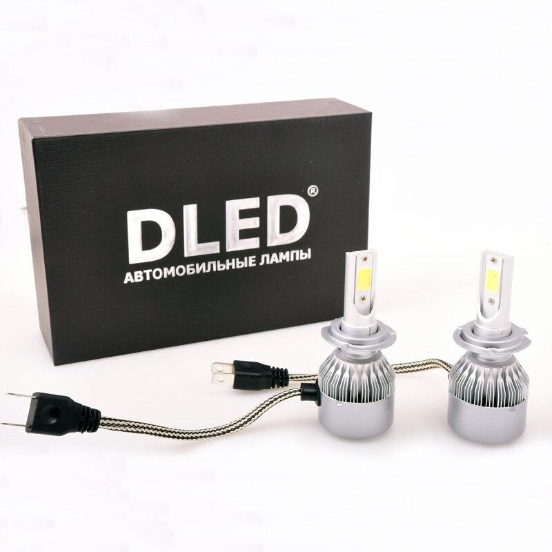 LED Car Lamp 2pcs  H3 H4 H7 H8 H11 9005 9006 DLED Pirats C6