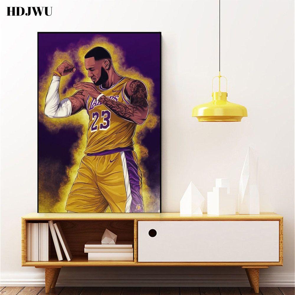 house decor office restaurant James vs Kobe Bryant sports poster US SELLER