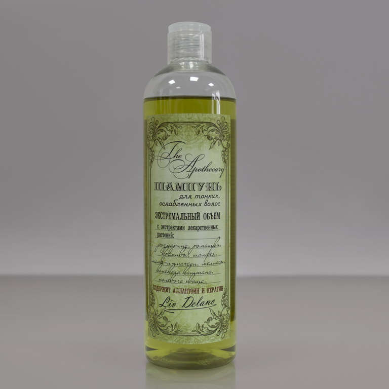 Liv Delano The Apothecary shampoo for thin, ослабленных hair (extreme volume) 400 ml image