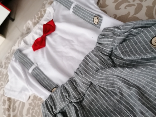Summer Kids Boys Bow Clothes Sets Baby Gentleman High Qulity Short T shirt Pants Toddler Boy Clothing Casual Kids Outfits Baby photo review