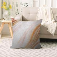 Mais cinza laranja mármore design nórdico escandinavo impressão 3d sofá grande travesseiro caso capas de almofada chão escondido zíper 70x70cm
