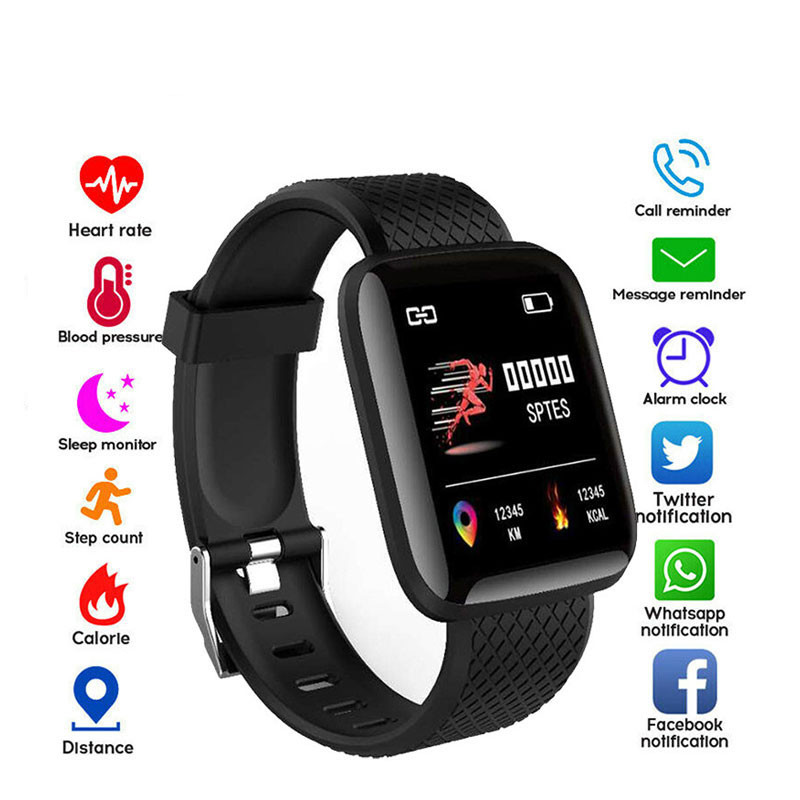 D13 Smart Watches Men Women 116 Plus Heart Rate Watch Smart Wristband Sports Watches Smart Band Waterproof Smartwatch Android