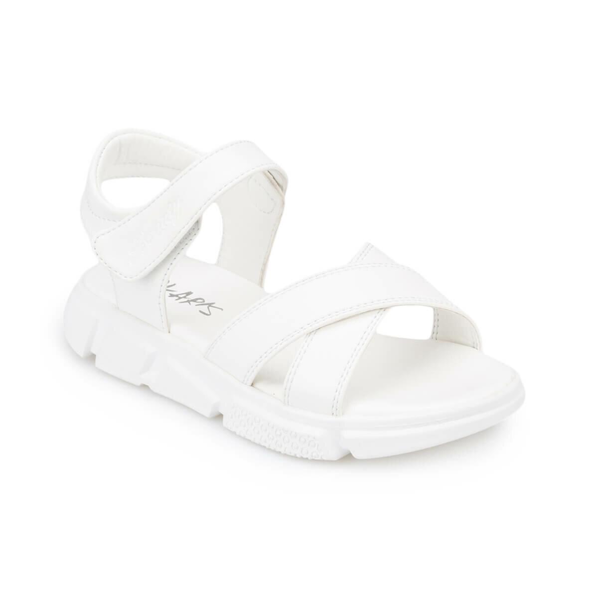 FLO 91. 511263.F White Female Child Sandals Polaris