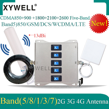 2020 New!! Five-Band 850 900 1800 2100 2600 2G 3G 4G Mobile Signal Booster 4G Cellular Amplifier 4g Repeater GSM DCS WCDMA LTE