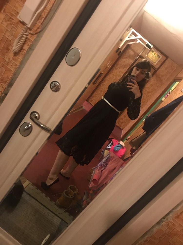 Autumn Winter Plus Size Vintage Lace Midi Dresses Women Elegant Bodycon Black Maxi Dress Party Long Sleeve Runway Vestidos photo review