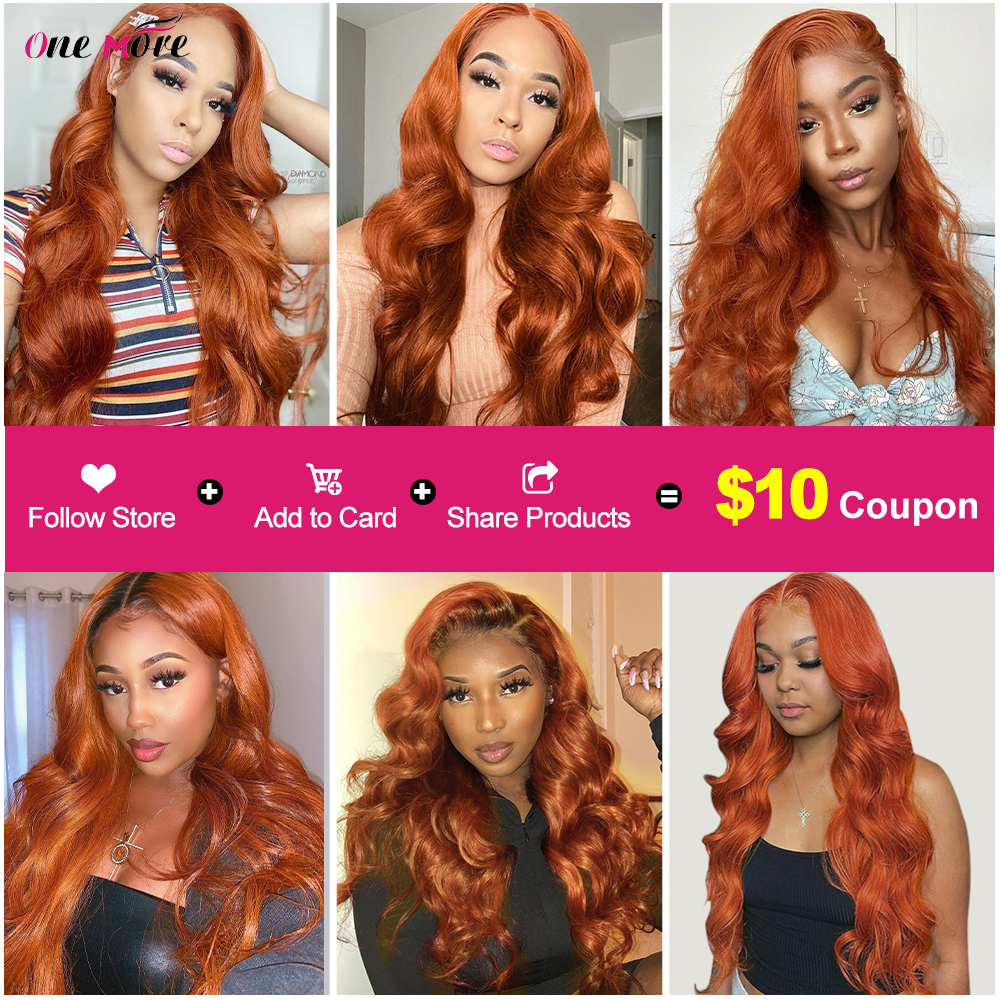 Ginger  Body Wave Bundles 100%   8-28 Inch  Hair s Double Weft 1 3 4 Hair  Bundles 6