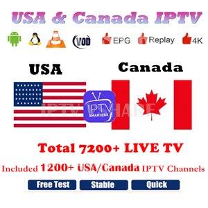 IPTV Smarters PRO USA IPTV Canada IPTV Subscription Free Watch 6/12 Months IPTV Europe Android TV box Smart TV M3U8 VLC(China)