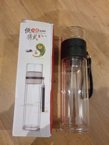 500ML Glass Water bottles for dink tea with infuser  Double Wall Bottle for water brief Portable outdoor ST195|Water Bottles| |  - AliExpress