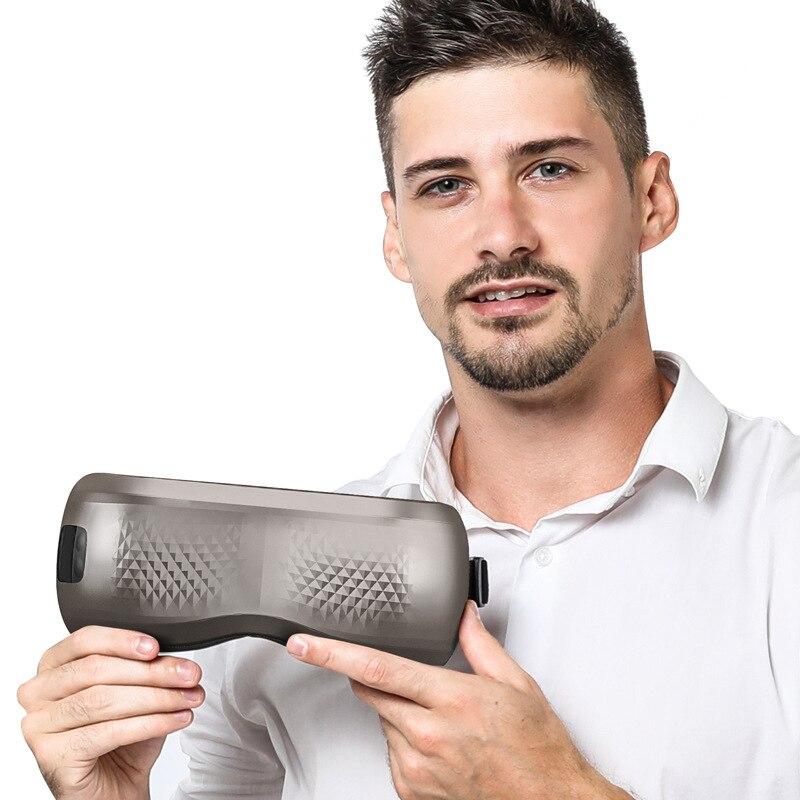 Dispositivo elétrico do cuidado dos olhos de bluetooth fadiga aliviar a vibração massageador de olho vibratório quente compressa terapia massageador