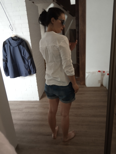 Spring Summer Women White Shirts Blouses V Neck Long Sleeve Shirts Cotton Casual Shirts Tops Women Ly321 photo review