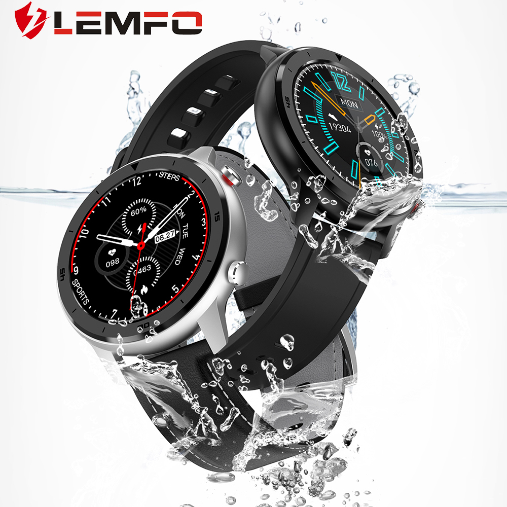 LEMFO DT78 Smart Watch Men IP68 Waterproof 1.3 Inch Full Round Touch Screen Heart Rate Blood Pressure Oxygen Monitor Smartwatch|Smart Watches|   - AliExpress