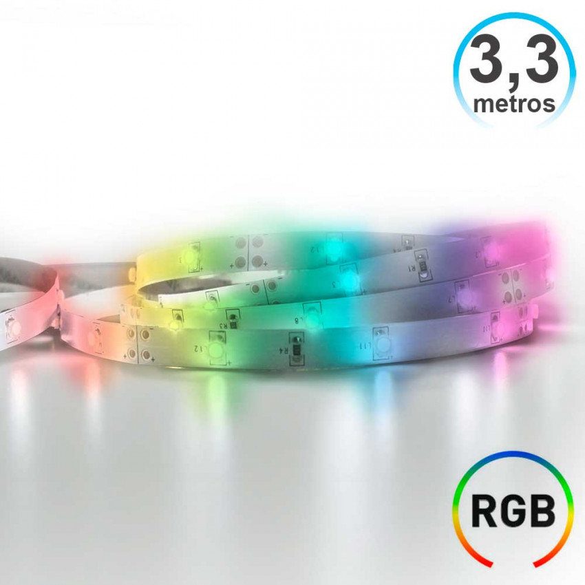 LED Strip RGB 3,3m IP20 With Timer Battery