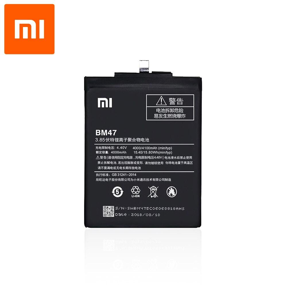 Оригинальный аккумулятор для смартфона Xiaomi Redmi 3 / 3 Pro / 3S / 3S Prime / 3X / 4X (3,8 в, 4100 мАч, BM47)