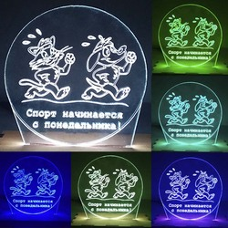 N-079 Sports Monday-3D USB led Eco-friendly lamp night light, hand, table night light, home decor,