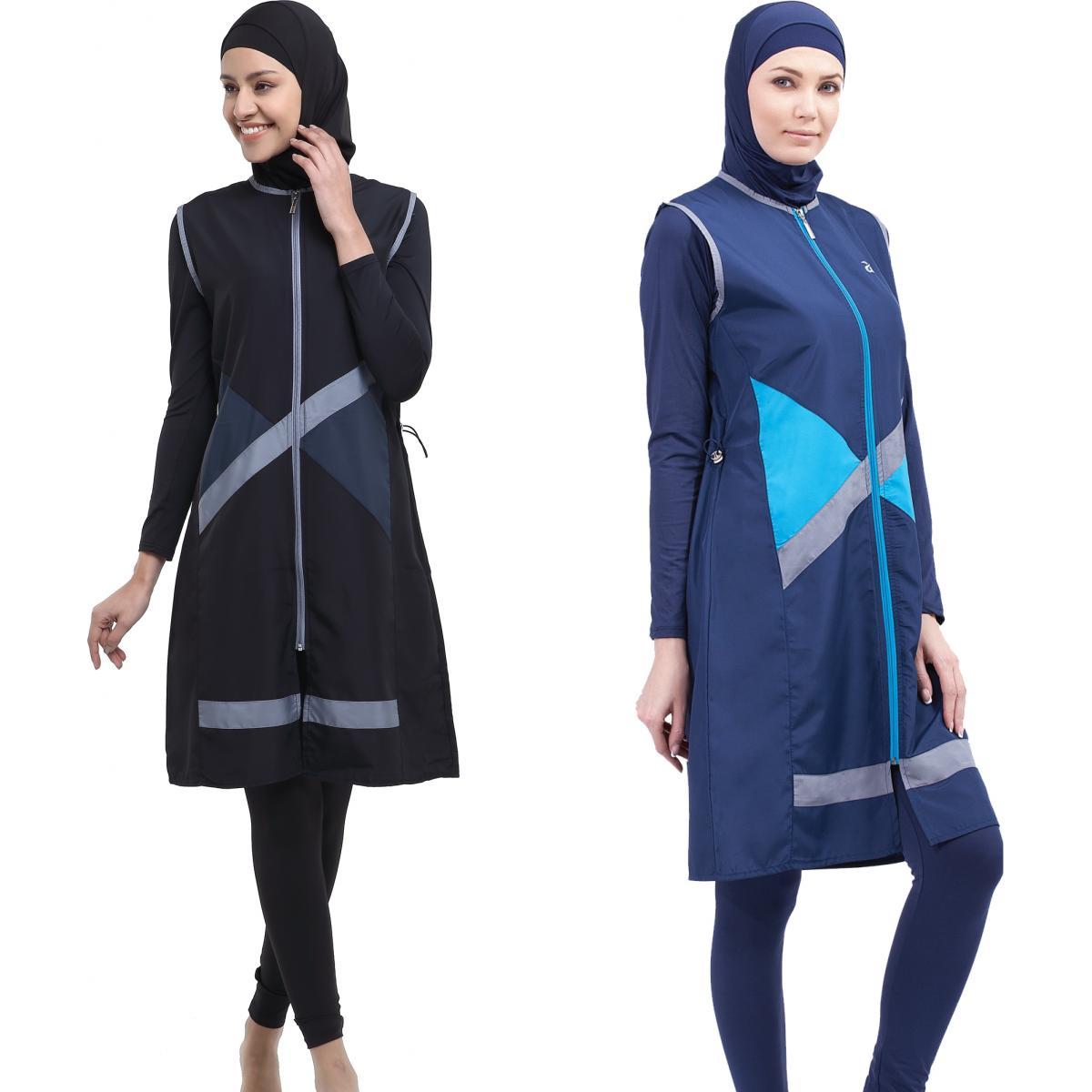Argisa 7108 Garnili Jileli The Tights Long Hijab Swimwear S-5XL Plus Size Muslim Hijab Islamic Swimsuit Swim Burkinis Full Cover