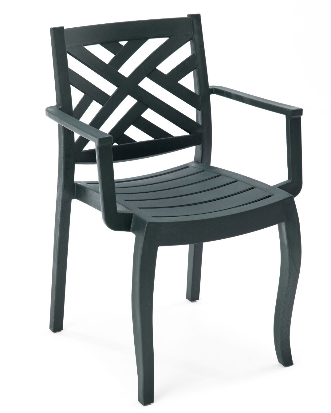 Armchair JACARANDA, Stackable, Polypropylene Anthracite