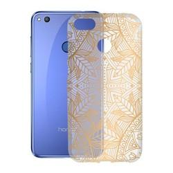 Pokrowiec do telefonu Honor 8 Lite KSIX Flex India TPU przezroczysty złoty