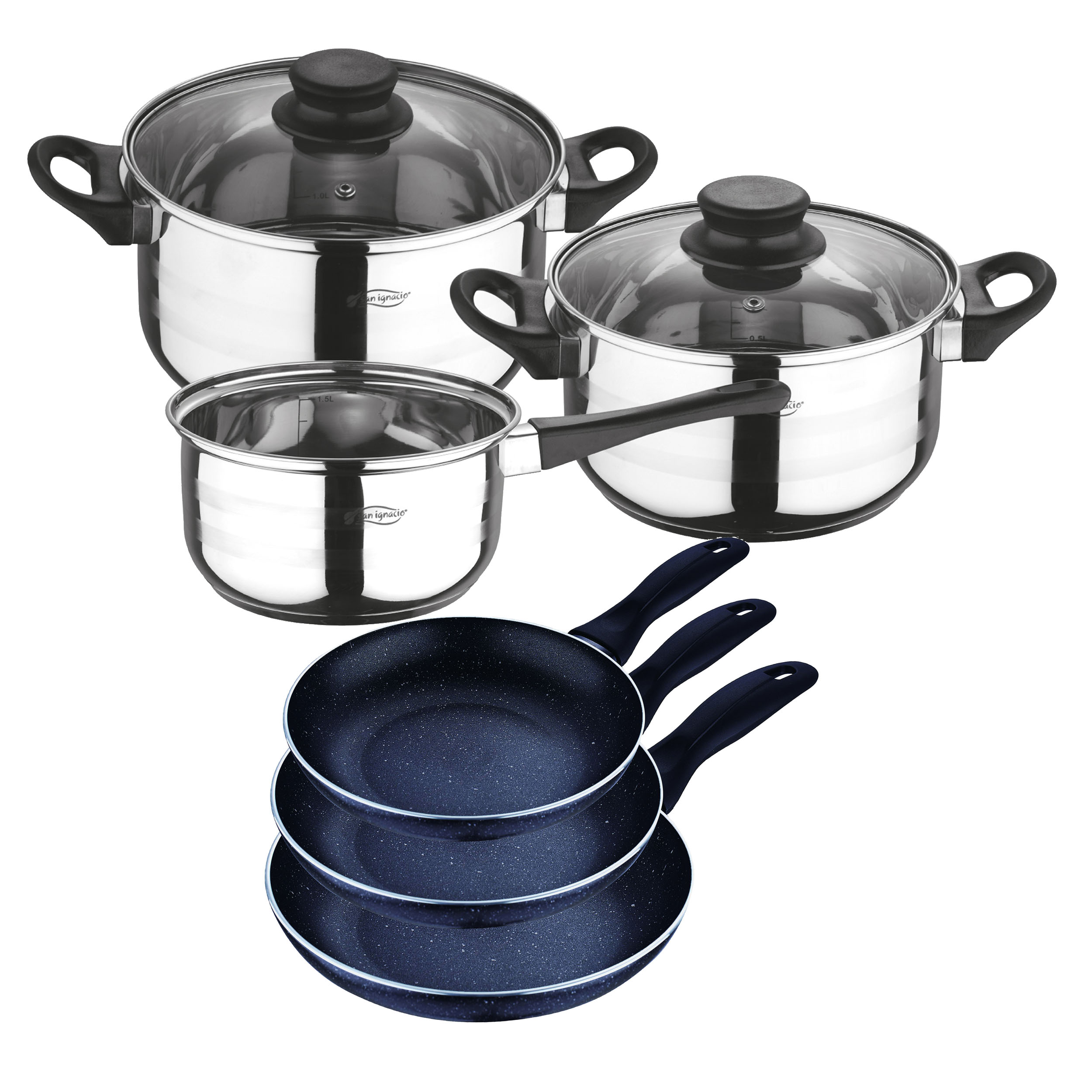Batteries Cooking Set 5 Pieces And Sauce Pans SAN IGNACIO