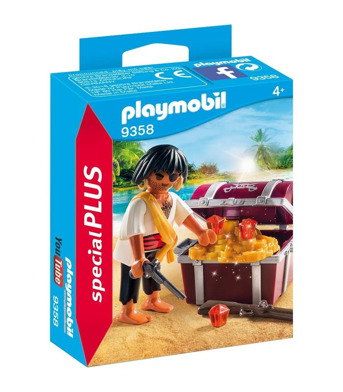 9358 Playmobil Pirate Treasure Chest Toy Store