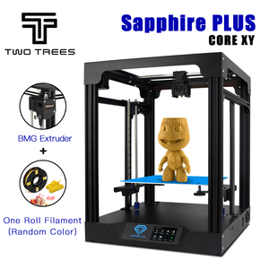 TWO TREES 3D Printer Sapphire plus CoreXY BMG Extruder + TMC2208 Core xy 300*300*350mm DIY Kits 3.5 inch touch screen facesheild(China)