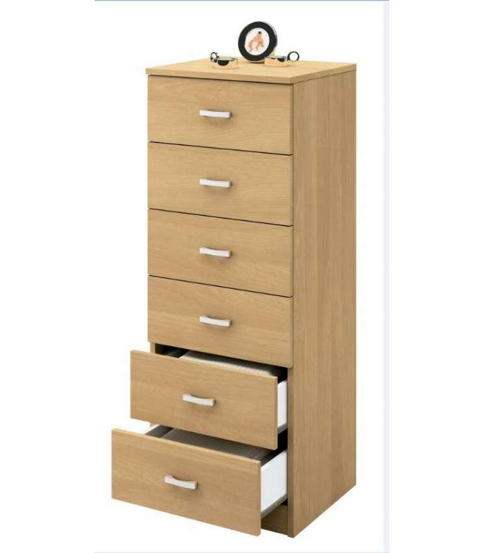 Crawley Solid 6 Drawers In Oak.