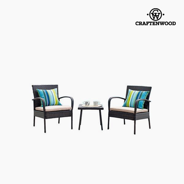 Table Set With 2 Armchairs (3 Pcs)