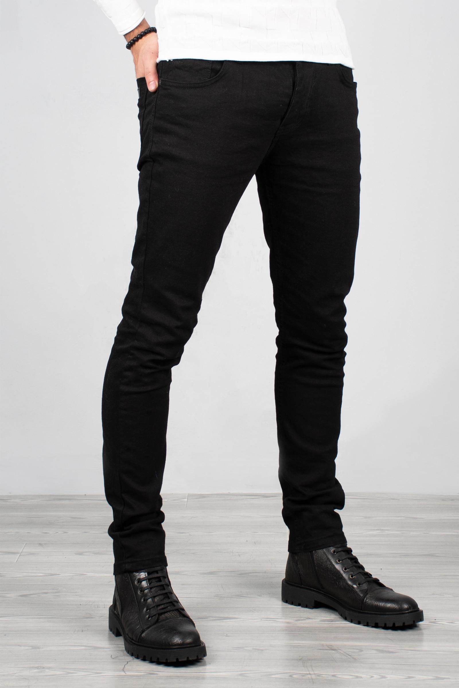 DeepSEA Male Black Slim Fit Jeans Denim Long Pants Slim Fit Cotton Lycra Street Clothing Four Seasons Vintage Casual 2001669
