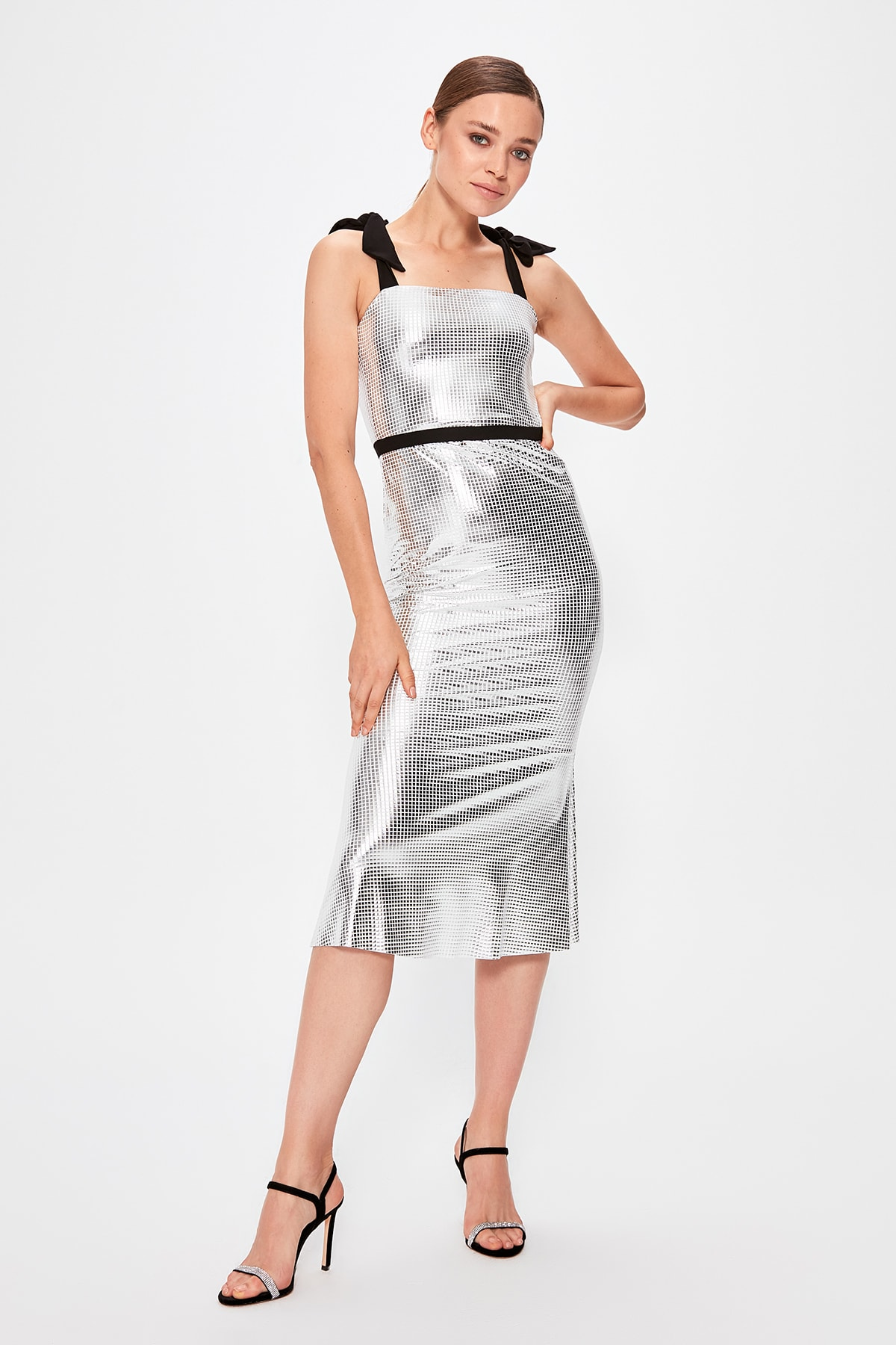 Trendyol Strap Detail Evening Dress TPRSS19BB0541
