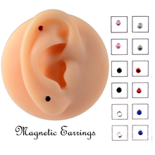 12PCS/Card Fake Cheater Non Pierced Magnet Ear Tragus Cartilage Lip Labret Stud Nose Ring  Jewelry Magnetic Earring