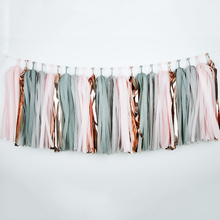 Banner Tassel Garland Pink Decoration Bridal-Shower-Favor Elephant Balloon-Tail Birthday-Party