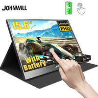"""15.6"""" Battery Portable Monitor touch USB C HDMI 1080P IPS LCD gaming display for PC Laptop Smartphone Switch PS3 PS4 XBOX360"""