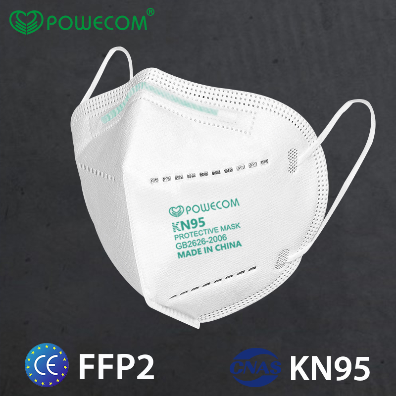 KN95 Powecom KN95 Mask Respirator 10pcs Face Mask Safety PM2.5 Protective 95% Filtration Mouth Muffle Mask Dust Mask-0