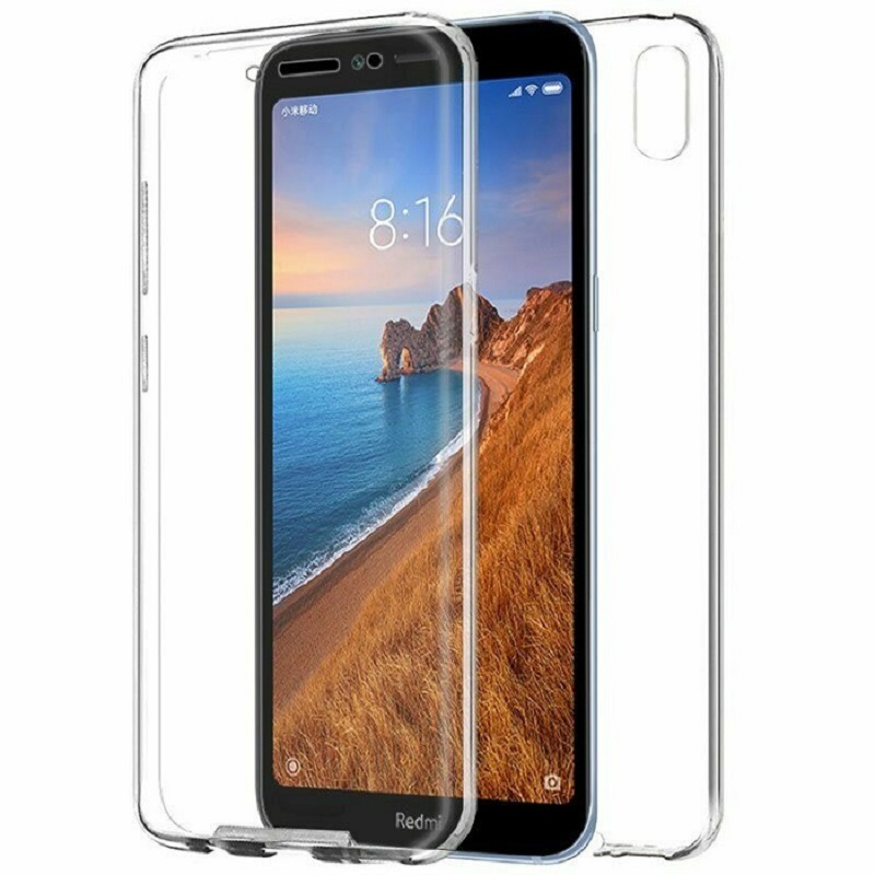 Stand Case Double 360 ° For XIAOMI REDMI 7A Front + Back Clear