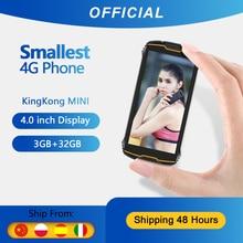 """Cubot KingKong MINI sağlam telefon 4 """"QHD + ekran su geçirmez 4G LTE çift SIM 3GB + 32GB Android 9.0 arka kamera 13MP gerçek MINI telefon"""