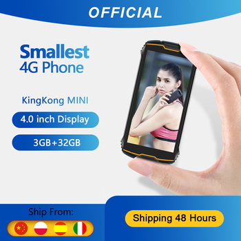 "Cubot KingKong MINI Rugged Phone 4"" QHD+ Screen Waterproof 4G LTE Dual-SIM 3GB+32GB Android 9.0 Rear Camera 13MP Real MINI Phone"
