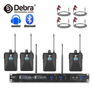 Bom som!!! debra ER-202 profissional uhf sem fio no sistema do monitor da orelha com transmissor múltiplo para o cantor do desempenho da fase