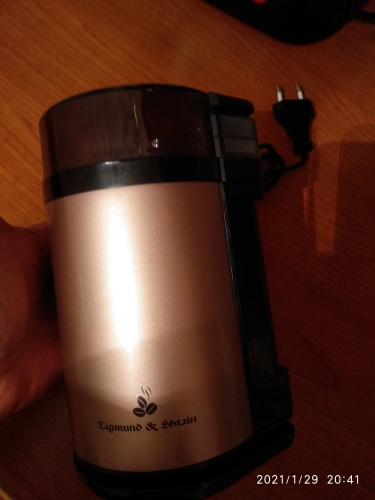 Coffee Grinders Zigmund & Shtain Al caffe ZCG 09 Home Appliances Kitchen Coffee Grinder mill beige metallic electric coffee grinder|Electric Coffee Grinders|   - AliExpress