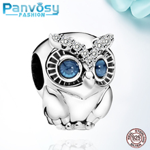 dermspe s925 silver children s paradise bead bracelet holiday set fit diy original jewelry 925 sterling silver woman bracelets New Jewelry Making Big eyed cute owl Sterling Silver 925 Bead Fit Pandora Charms Silver 925 Original Bracelets 2020 Charm DIY