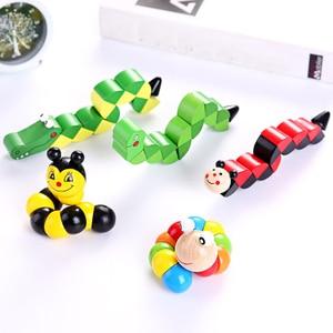 Image 1 - 知育玩具 3D パズル木製おもちゃ子供教育玩具赤ちゃんの手のおもちゃ木製の漫画の動物モンテッソーリのおもちゃ子供のギフト