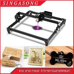 TOTME máquina de grabado láser CNC 2500/5500mW DIY automática CNC de corte de madera láser, máquina de corte