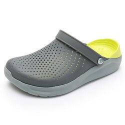 2020 Men Sandals Crocks Summer Hole Shoes Crok Rubber Clogs Men EVA Unisex Garden Shoes Black Crocse Beach Flat Sandals Slippers