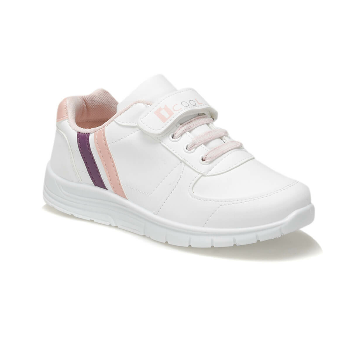FLO DEMBA White Female Child Sneaker Shoes I-Cool