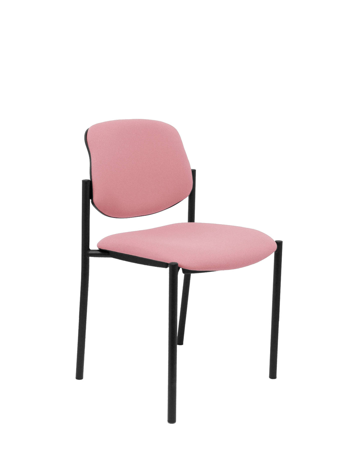Visitor Chair 4's Topsy And Estructrua Negro-up Seat And Backstop Upholstered In BALI Tissue Pink Colour TAPHOLE AND CRESP
