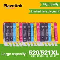 3 مجموعة Plavetink خرطوشة حبر ل PGI 520 CLI 521 متوافقة لكانون PIXMA IP3600 IP4600 IP4700 MX860 MX870 طابعة الكامل الحبر