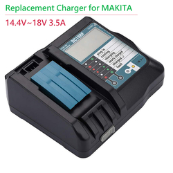 Replacement Charger for MAKITA 14.4V 18V 3.5A Li-ion Battery DC18RF Charger LCD Display for Power Tool Battery