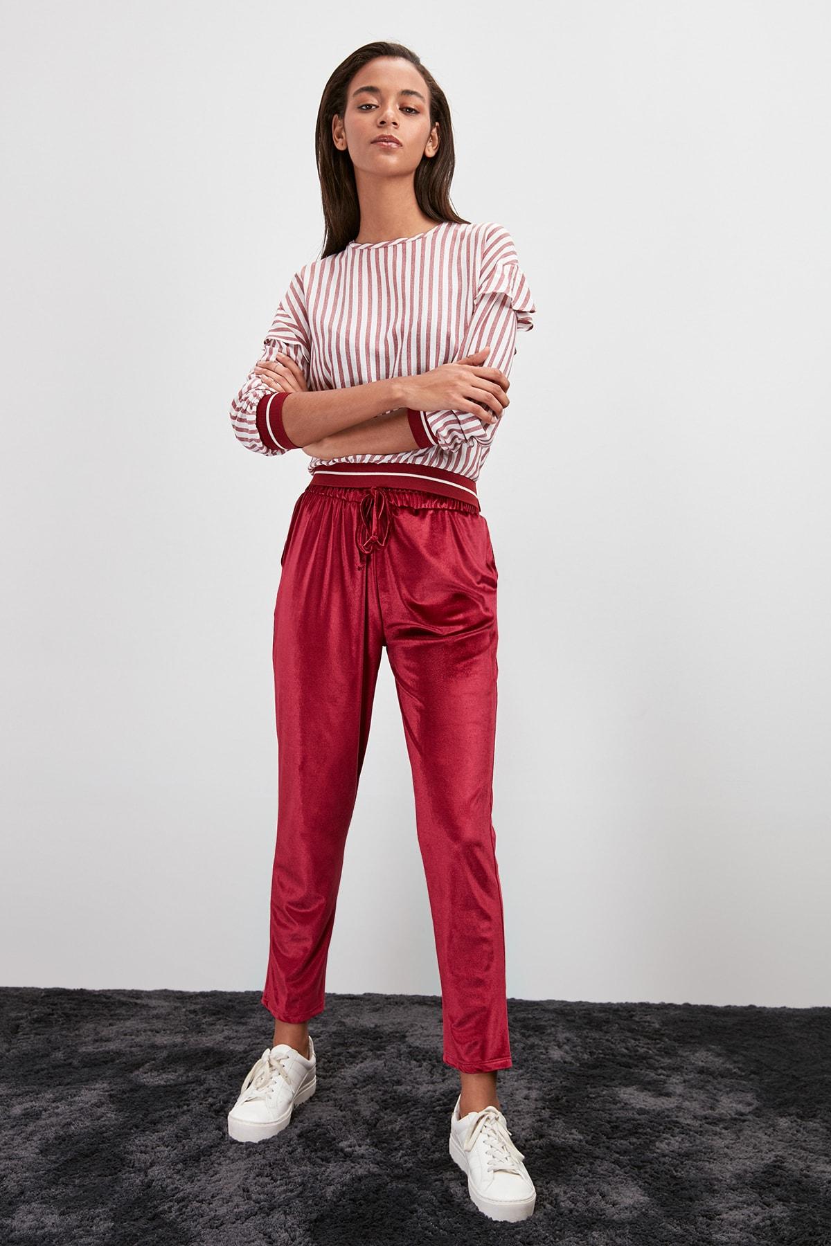Trendyol Velvet Knitted Pants TWOAW20PL0529