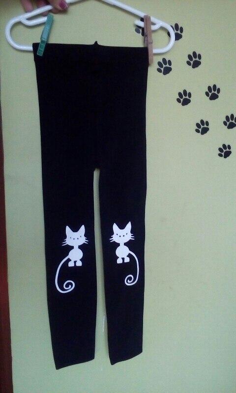 Spring Autumn Girls Leggings Skinny Black Cotton Elastic Pants Leggins Cat Bow Flower Cat Pattern for Girls Kids Children Pant|Pants| |  - AliExpress